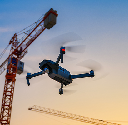 Drone technology can be used when sites are too dangerous for people to investigate.