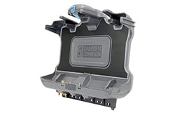 Getac F110 G6 cradle – angled view without tablet Gamber Johnson