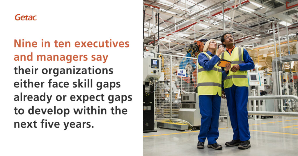 NIne in ten executives and managers say their organizations either face skill gaps already or expect gaps to develop within the next five years.